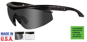 Wiley X Sunglasses - Talon Matte Black with Smoke Grey/Clear Lens - Changeable Series