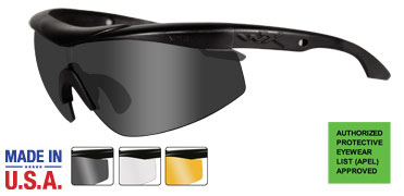 Wiley X Sunglasses - Talon Matte Black with Grey/Clear/Rust Lens - Changeable Series