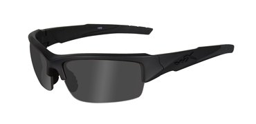 Wiley X Sunglasses - Valor Black Ops/Matte Black with Smoke Grey Lens - Changeable Series