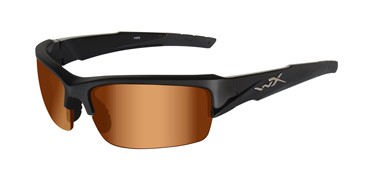 Wiley X Sunglasses - Valor Gloss Black with Bronze Flash Lens - Changeable Series