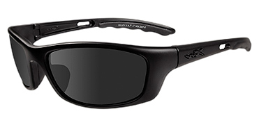 Wiley X Sunglasses - P-17 Black Ops/Matte Black with Smoke Grey Lens - Active Series
