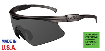 Wiley X Sunglasses - PT-1 Matte Black with Smoke Grey Lens - Changeable Series