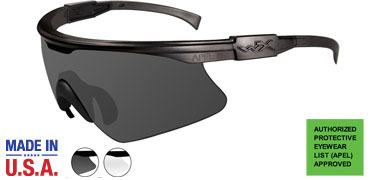 Wiley X Sunglasses - PT-1 Matte Black with Smoke Grey/Clear Lens - Changeable Series