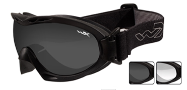 Wiley X Sunglasses - Nerve Matte Black with Smoke Grey/Clear Lens - Goggles Series