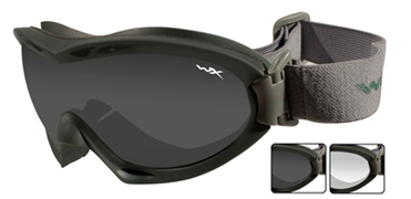 Wiley X Sunglasses - Nerve Foliage Green with Smoke Grey/Clear Lens - Goggles Series