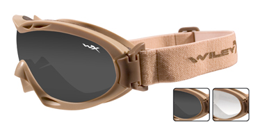 Wiley X Sunglasses - Nerve Tan with Smoke Grey/Clear Lens - Goggles Series