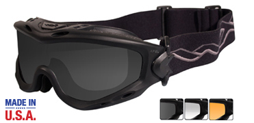 Wiley X Sunglasses - Spear Matte Black with Smoke Grey/Clear/Light Rust Lens - Goggles Series