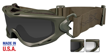 Wiley X Sunglasses - Spear Foliage Green with Smoke Grey/Clear Lens - Goggles Series