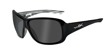 Wiley X Sunglasses - Abby Black Marble with Grey Polarized Lens - Street Series - DISCONTINUED