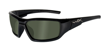Wiley X Sunglasses - Censor Gloss Black with Polarized Green Lens - Street Series