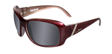 Wiley X Sunglasses - Chelsea Liquid Plum with Smoke Grey Lens - Street Series - DISCONTINUED
