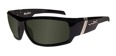 Wiley X Sunglasses - Hydro Gloss Black with Polarized Smoke Green Lens - Street Series - DISCONTINUED