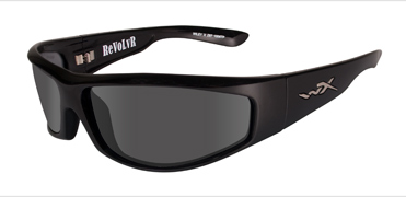 Wiley X Sunglasses - Revolvr Gloss Black with Smoke Grey Lens - Street Series - DISCONTINUED