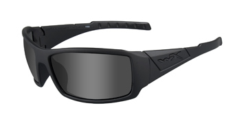 Wiley X Sunglasses - Twisted Matte Black with Grey Lens - Racing Street Series
