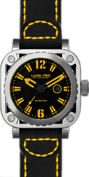 Lum-Tec Watch - G Series - G4 Quartz Mens w/ Black Leather