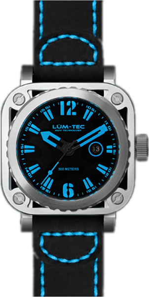 Lum-Tec Watch - G Series - G5 Quartz Mens w/ Black Leather