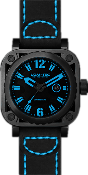 Lum-Tec Watch - G Series - G6 Quartz Mens w/ Black Leather