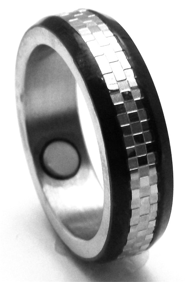 Stainless Steel Magnetic Therapy Ring (USR002) - New!