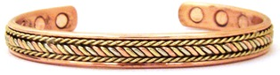 Tri Color Power -  Solid Copper Magnetic Therapy Bracelet (MBG-042) - NEW!