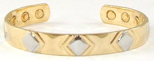 Gold X -  Solid Copper Magnetic Therapy Bracelet (MBG-5084) - NEW!