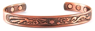 Rising -  Solid Copper Magnetic Therapy Bracelet (MBG-5103) - NEW!