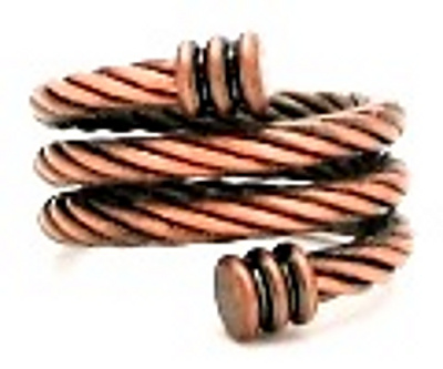 Copper Braided Spiral - Magnetic Therapy Ring (CCR-133) - New!