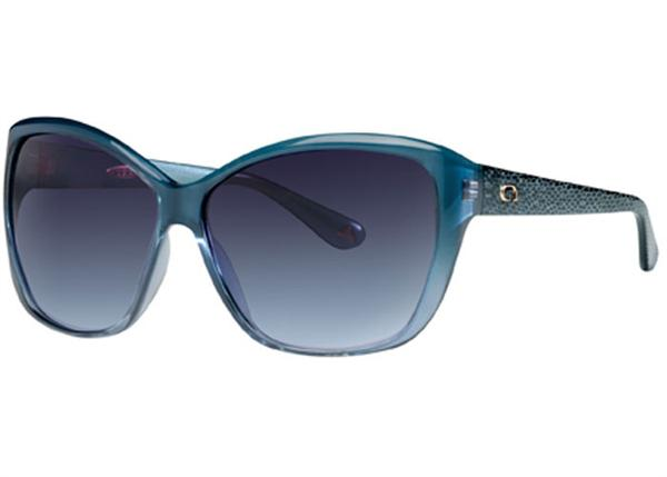 Angel Sunglasses - Mod - Turquoise Fade Frame with Navy Gradient Lens