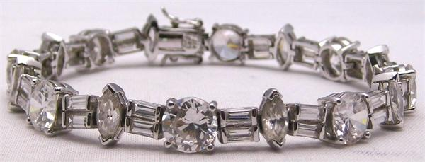 Multi Size Clear CZ Stones 925 Sterling Silver Tennis Bracelet - Vintage / Estate Collection - SOLD