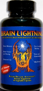 Brain Lightning by Novus Research Travel Size (18 vegi-capsules) (novusBLT) - LIMITED STOCK