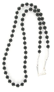 Black Jet Beaded Necklace - Navajo Native American Handcrafted - DISCONTINUED