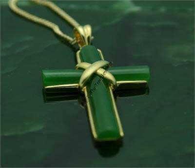 Polar Jade Cross Pendant (P0068) - Chain NOT Included
