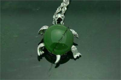 Polar Jade Turtle Pendant (P0199) - DISCONTINUED