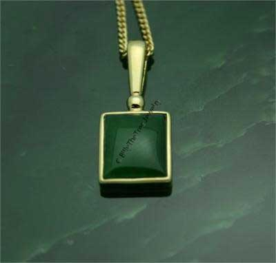 Polar Jade Square Pendant (P0628) - DISCONTINUED