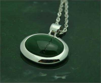 Jade Oval Pendant (P0814) - DISCONTINUED
