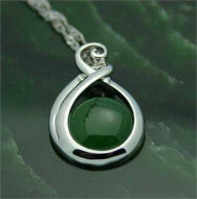 Jade Double Twist Pendant (P0824) - DISCONTINUED