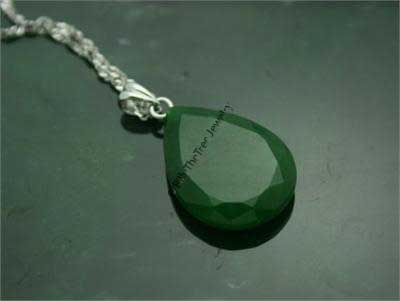 Polar Jade Faceted Pear Pendant (P1945-10A)