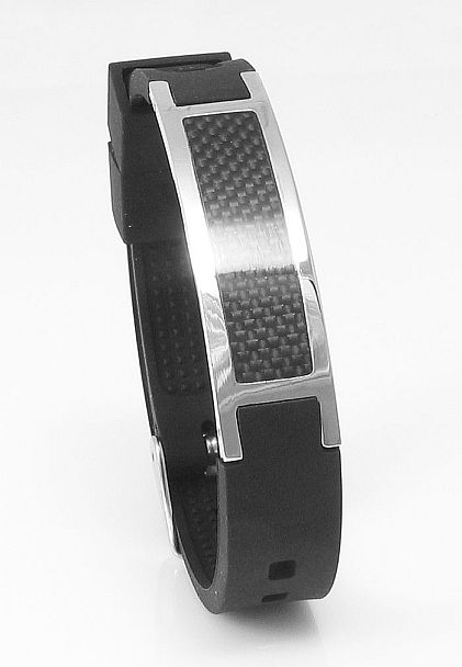 New - pH-ionic Energy Carbon Black - Magnetic Therapy Bracelet