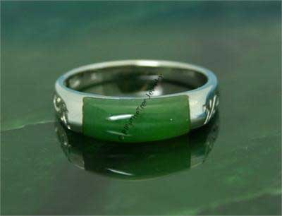 Polar Jade Ring Vermeil Size 9 (R0392) - LIMITED STOCK