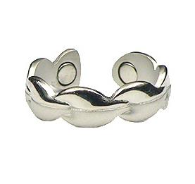 Silver Elegance - Silver Plated Magnetic Therapy Ring (R14)