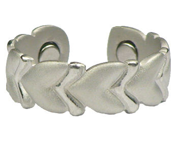 Silver Cupid's Guide - Silver Plated Magnetic Therapy Ring (R16)