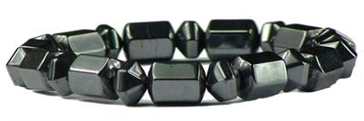 Hematite Barrels - Magnetic Therapy Bracelet (SY-6232C) - DISCONTINUED