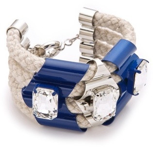 nOir Jewelry - Rope and Highlight Bracelet in Blue - DISCONTINUED