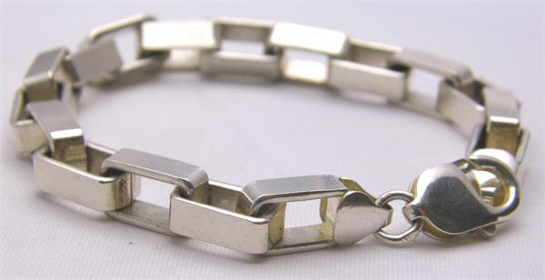 925 Sterling Silver Box Link Chain Bracelet - Vintage / Estate Collection - SOLD