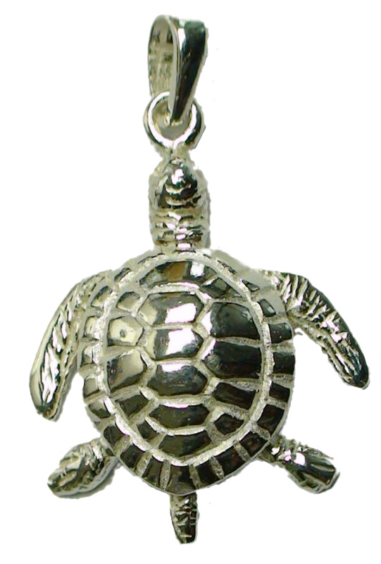 Sea Turtle Pendant w/ Movable Head, Legs, and Tail 925 Sterling Silver - DISCONTINUED