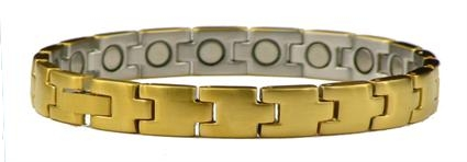 Golden Classic - Stainless Steel Magnetic Therapy Bracelet (SS-14) - DISCONTINUED