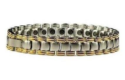 Silver Planet - Silver Plated Stainless Steel Magnetic Therapy Bracelet (SS-26)