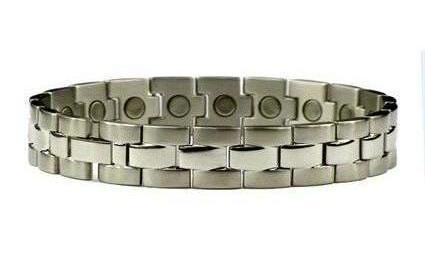 Silver Touch - Silver Plated Stainless Steel Magnetic Therapy Bracelet (SS-3)