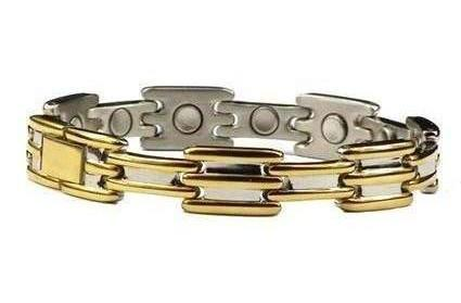 Golden Touch - Gold Plated Stainless Steel Magnetic Therapy Bracelet (SS-4)