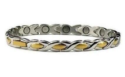 Inverse XOXO - Stainless Steel Magnetic Therapy Bracelet (SS-40)