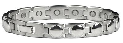 Silver Worlds - Stainless Steel Magnetic Therapy Bracelet (SS-48) - DISCONTINUED